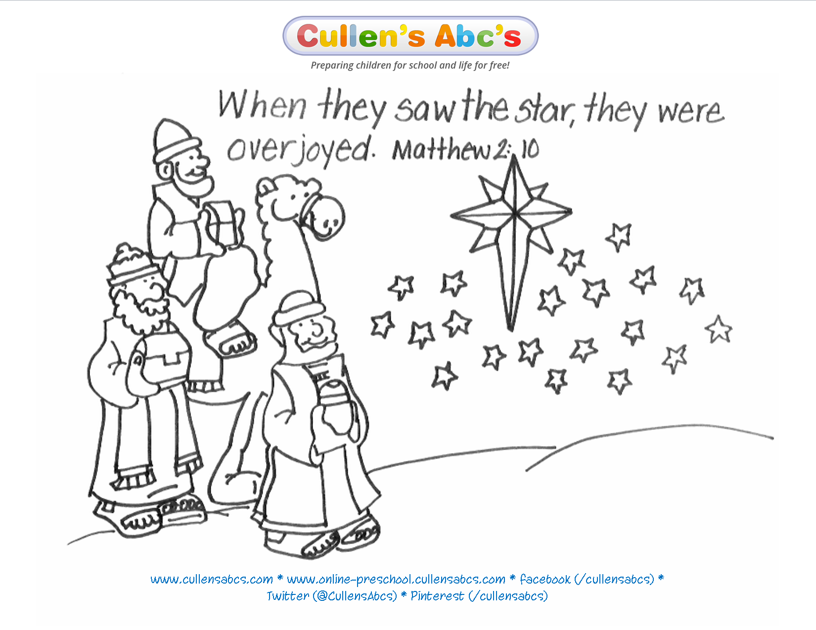 Epiphany Bible Memory Verse Coloring Page. For a complete