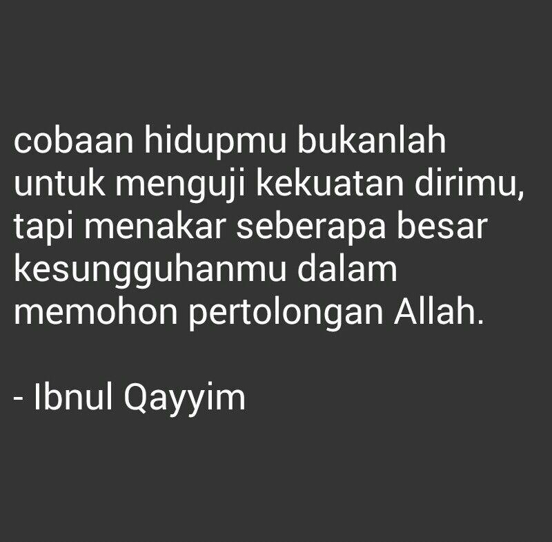 Kutipan Islam Ibnul Qayyim Motivasi Kutipan Hidup