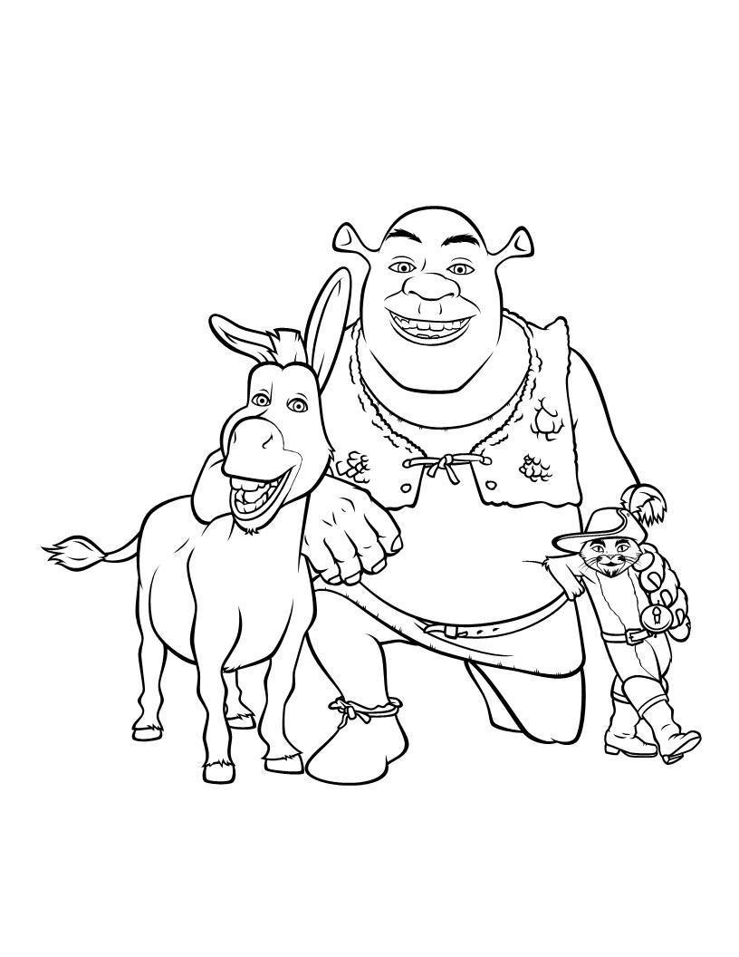 Shrek Desenhos Para Colorir Paginas Para Colorir Da Disney