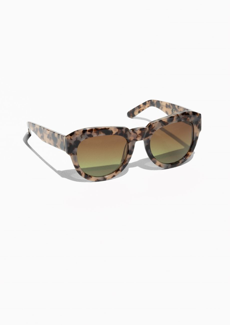 86a856f6dff   Other Stories Thick Square Frame Sunglasses in Tortoise-Shell ...