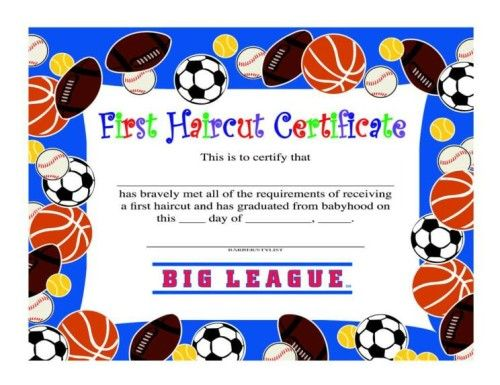 First Haircut Certificate Boy Tools Of The Trade Pinterest