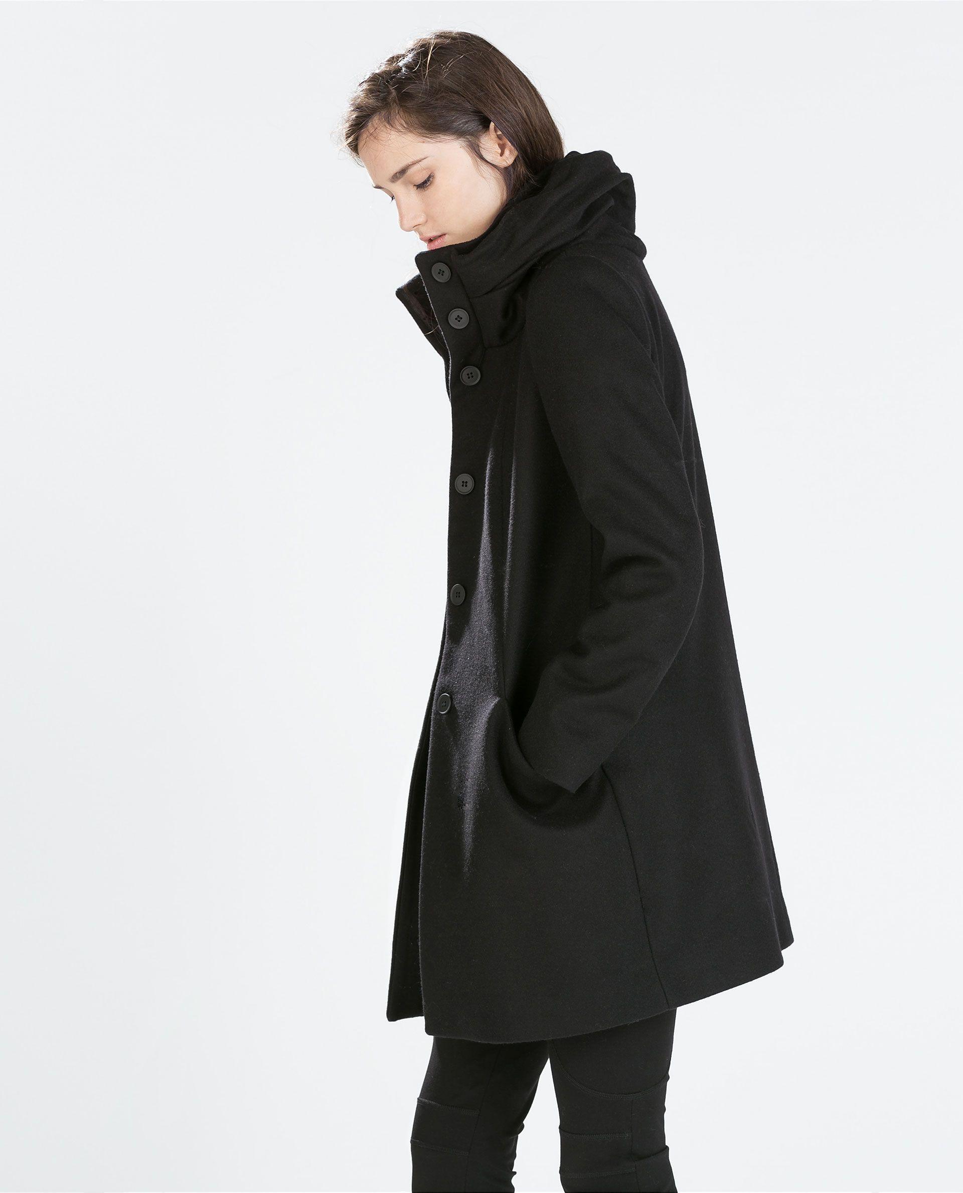 7e7c4d8d2c WOOL WRAPAROUND COLLAR COAT - Outerwear - WOMAN | ZARA Serbia | zara ...