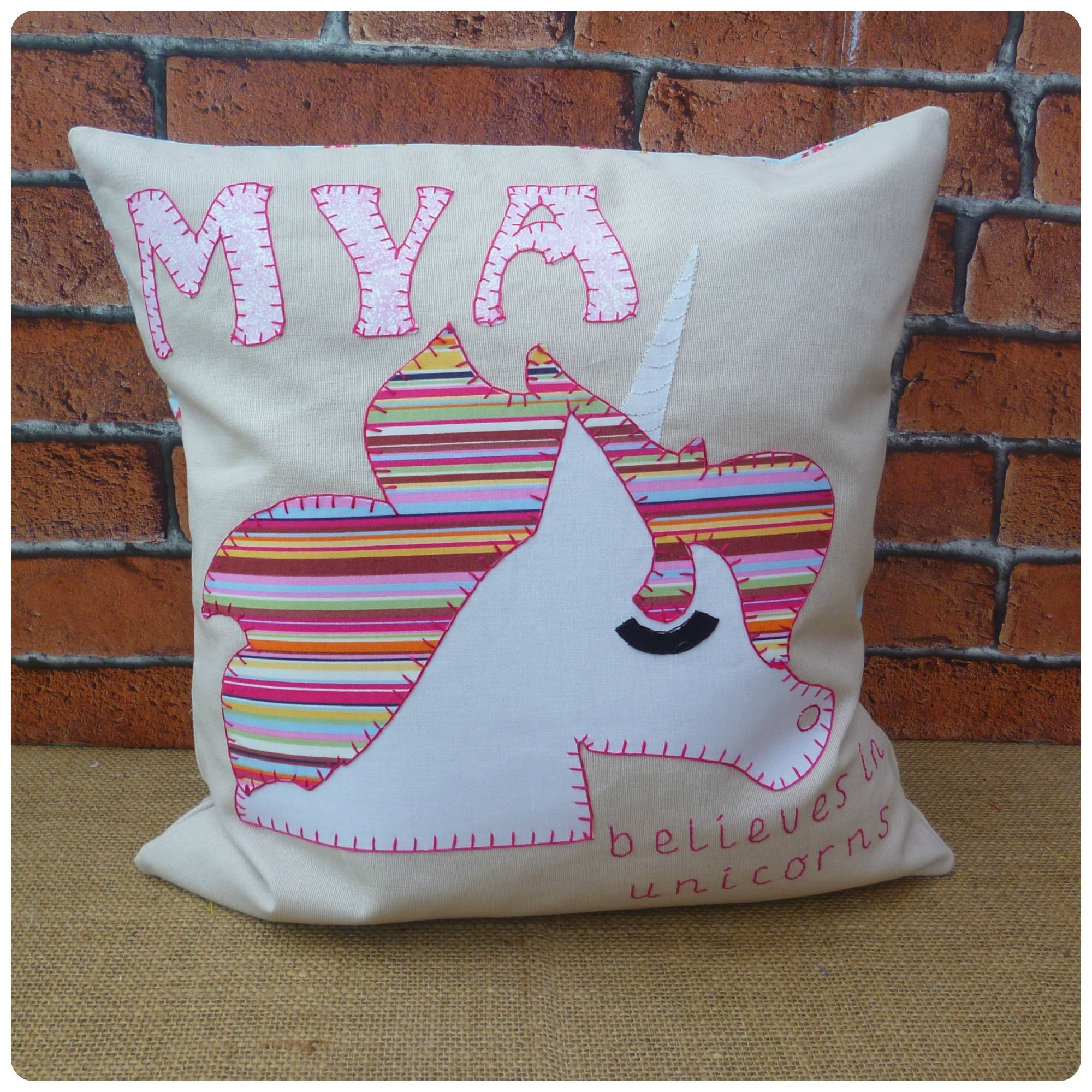 Personalised unicorn cushion the perfect gift for a unicorn fan