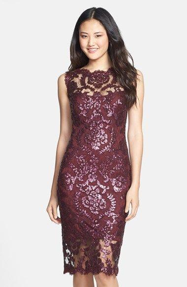 Tadashi Shoji Sequin Illusion Lace Dress Regular Petite Nordstrom Lace Dress Illusion Lace Dress Lace Wedding Guest Dress
