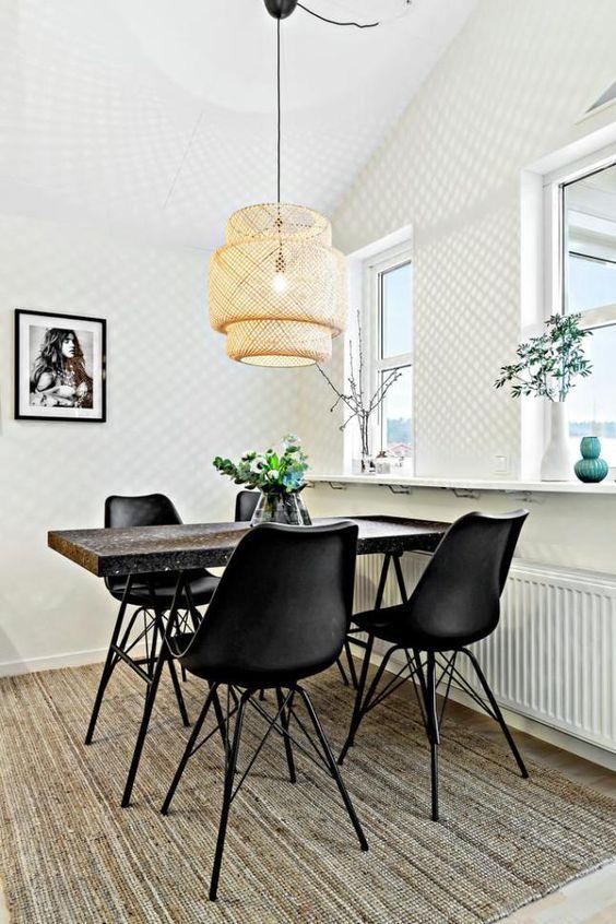 la suspension en rotin le nouveau must design et boh me parisian chic dining room dining i. Black Bedroom Furniture Sets. Home Design Ideas