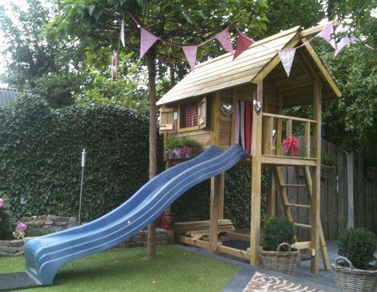 Zelfbouw speelhuisje speelhuisje pinterest kind - Origineel tuin idee ...