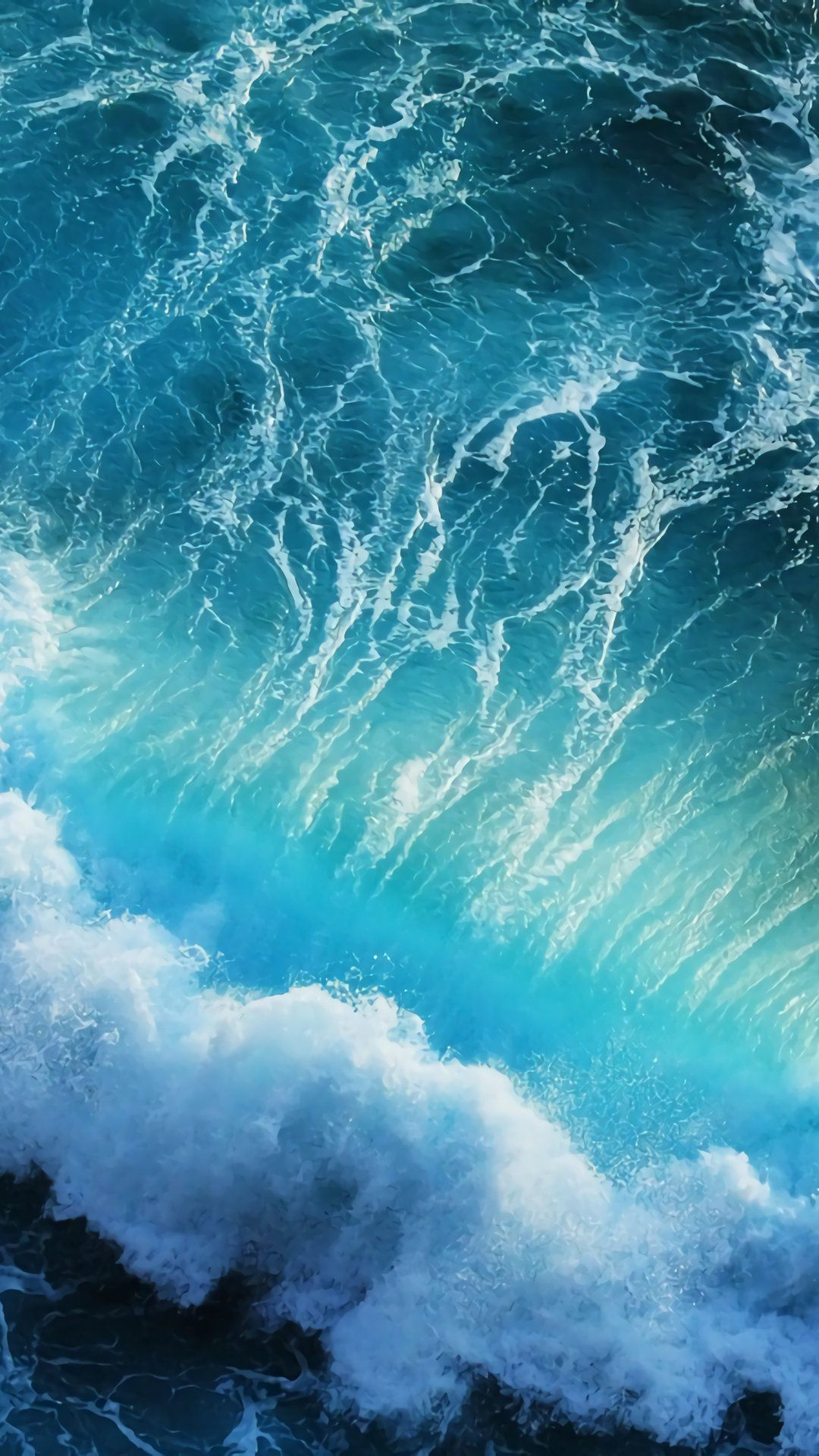Phone Wallpaper Landscape Wave Sea Ocean With Images Waves