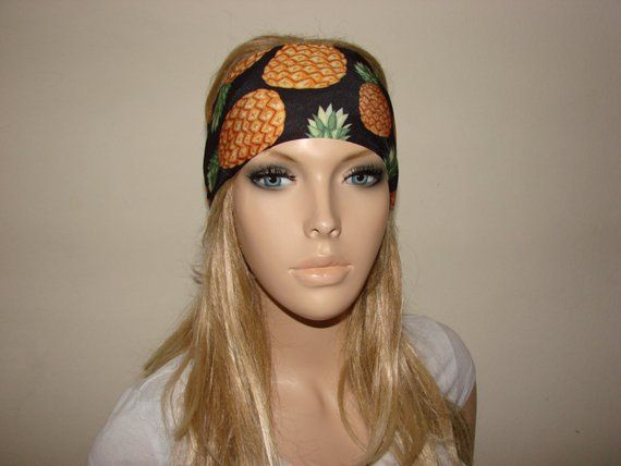 yoga headband - pinaple turban headband - workout headband - excercice  headband - fitness hair band b2ad7a871db