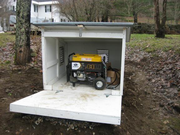 Small Sheds For Generators  Generator In Rain