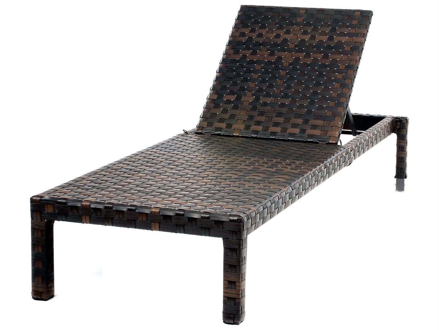 Ebel tremont wicker armless chaise lounge with wheels
