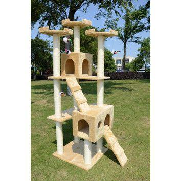 "Aosom LLC 72"" Condo Scratcher Cat Tree"