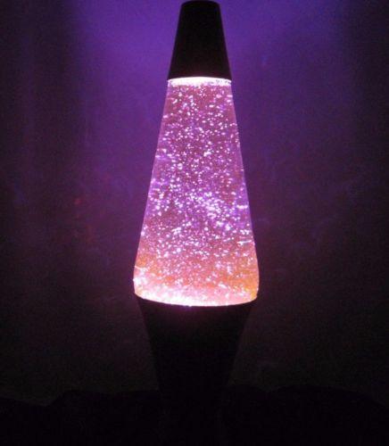 Purple Lava Light Glitter Lamp 16 Tall Silver