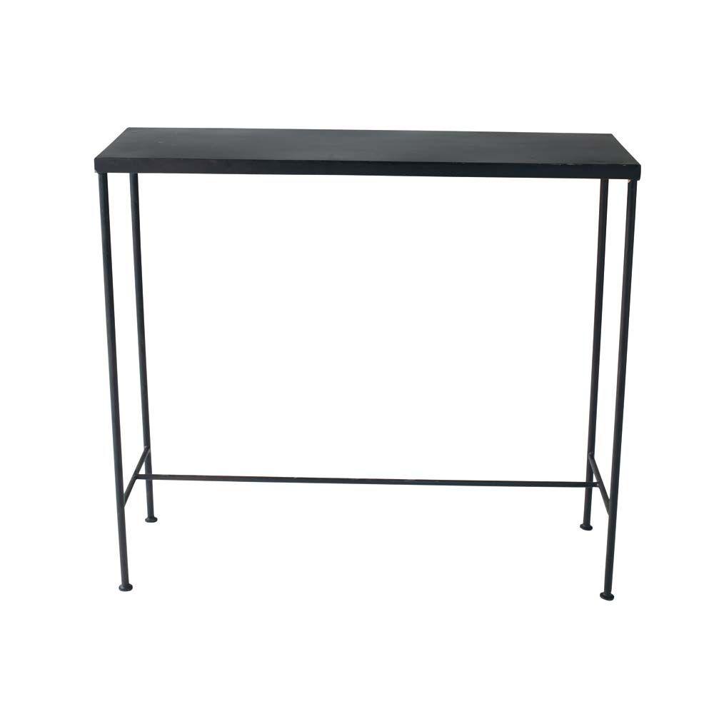 Table console indus en métal noire L 90 cm | Industrial console ...