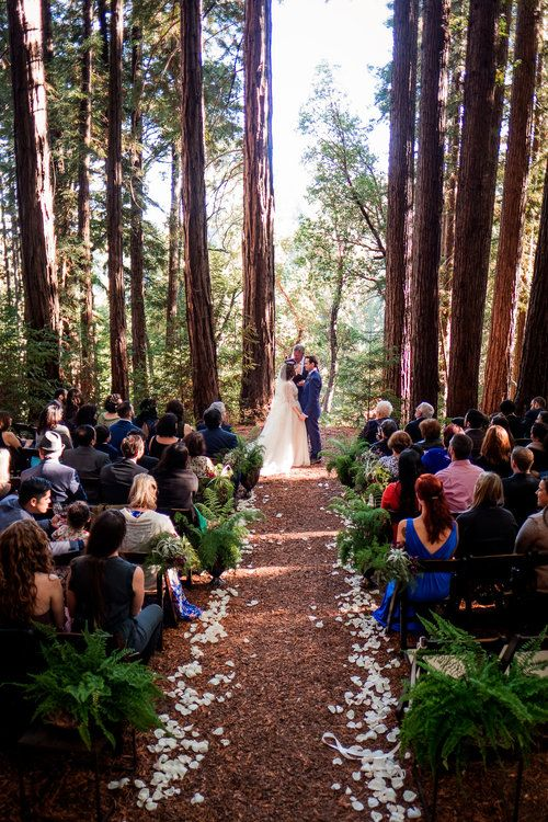 Magical Woodland California Wedding Venue Sequoia Retreat Center Art Soul Events Nordica Photography Bride Groom Ceremony In The Forest