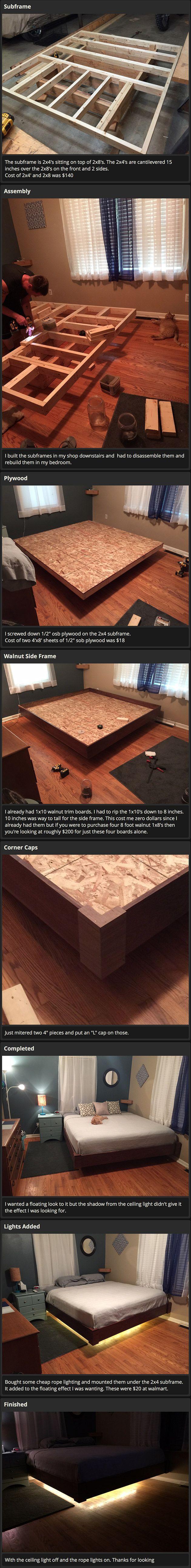 floating bed frame - Google Search | Misc | Pinterest | Architektur