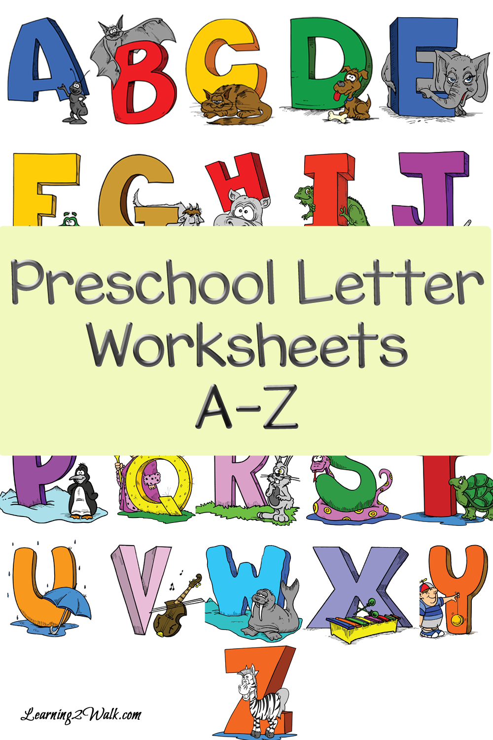 Preschool Letter Worksheets Alphabet