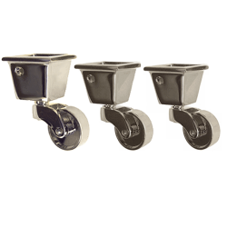 Merveilleux Nickel Square Cup Casters