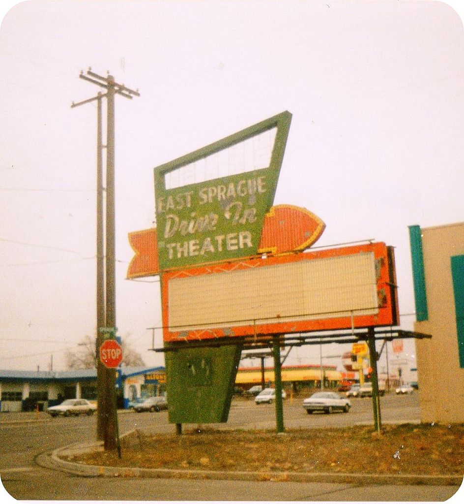 East Sprague Drive In Theater Sign Spokane Wa One Of My Many Haunts As A Teenager Drive In Theater Theatre Sign Drive In Movie Theater