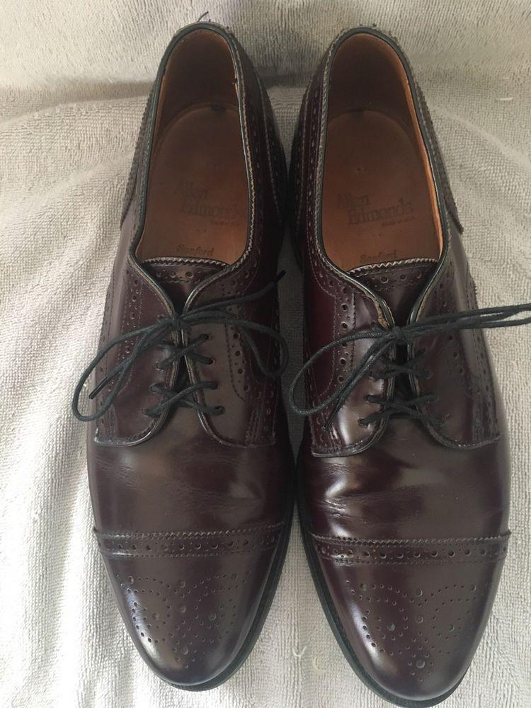 1997b26d78f Allen Edmonds Sanford Captoe Derby 9.5 D US Burgundy Leather  fashion   clothing  shoes. Visit