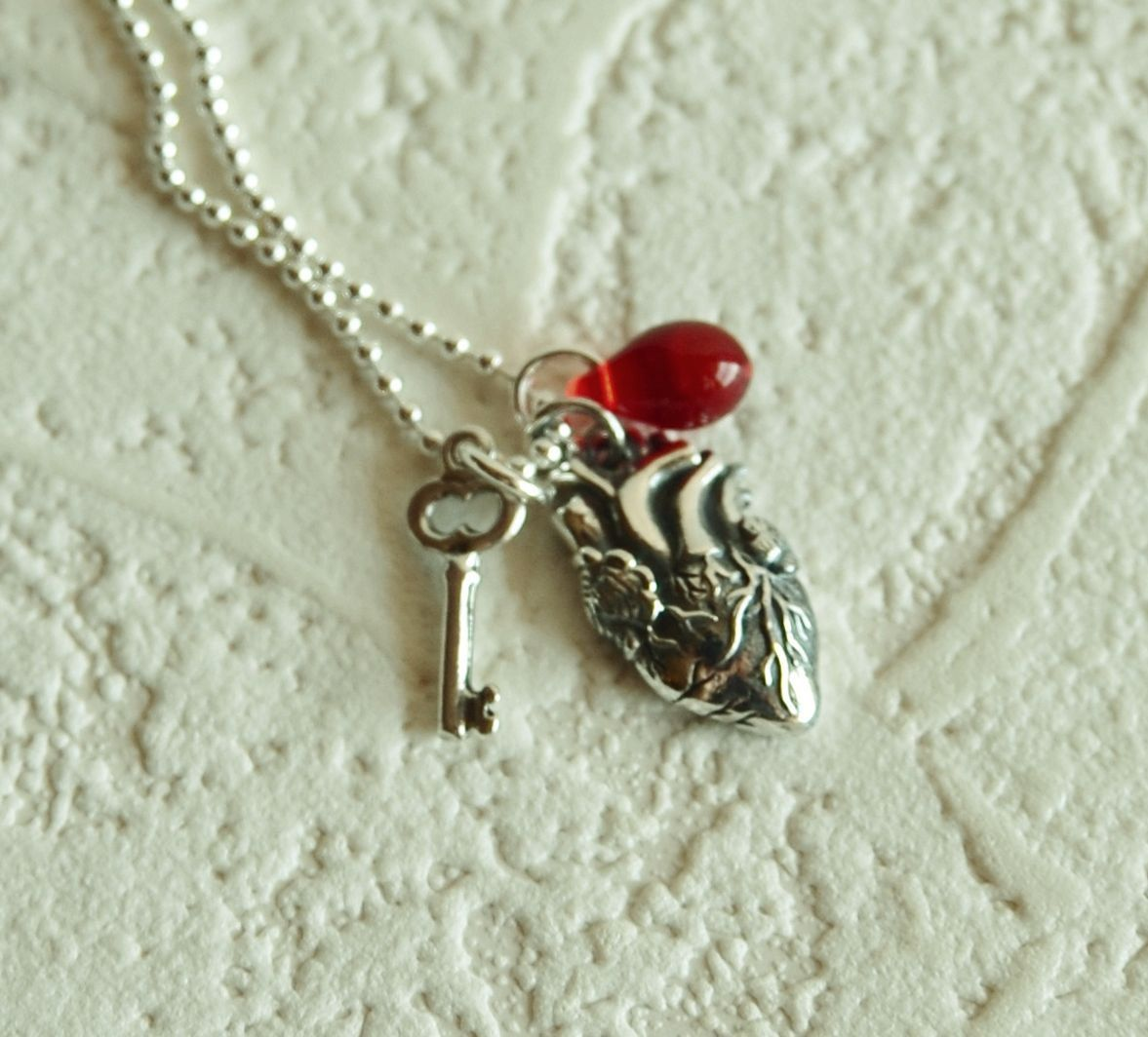 Sterling silver anatomical heart Necklace. I really want this ...