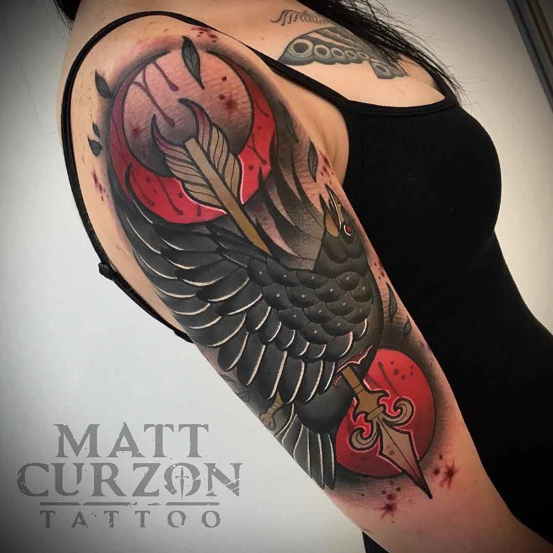 crow tattoo 1
