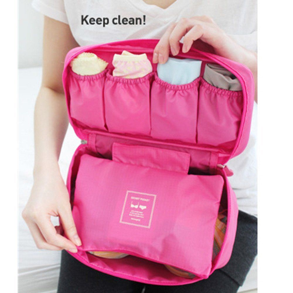 Amazon.com   Portable Travel Drawer Dividers Closet Organizers Bra  Underwear Storage Bag