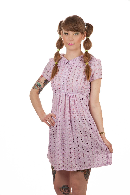 Lavender Lace Baby Doll Dress. $89.95, via Etsy.