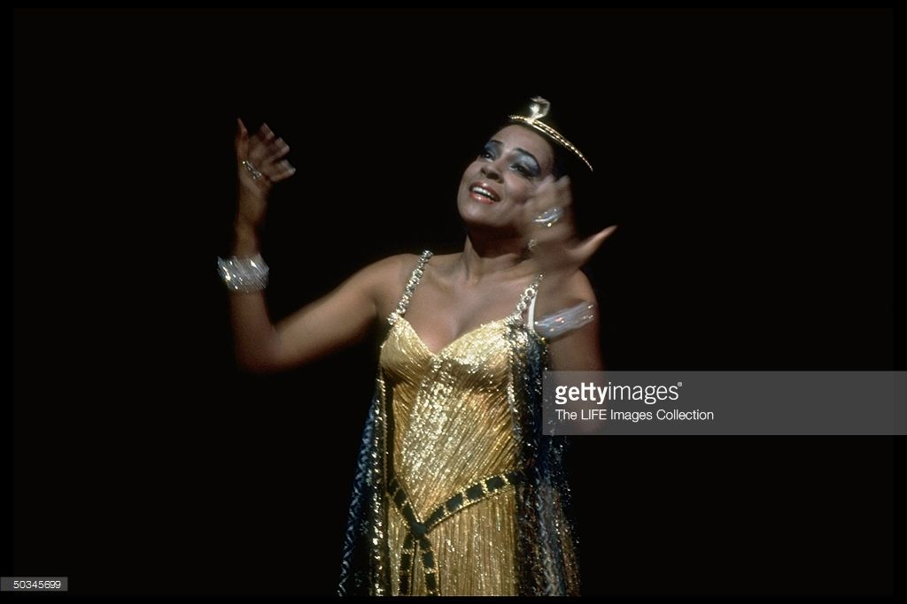 Soprano Kathleen Battle as Cleopatra in Handel's Guilio Cesare on stage at the Metropolitan Opera.