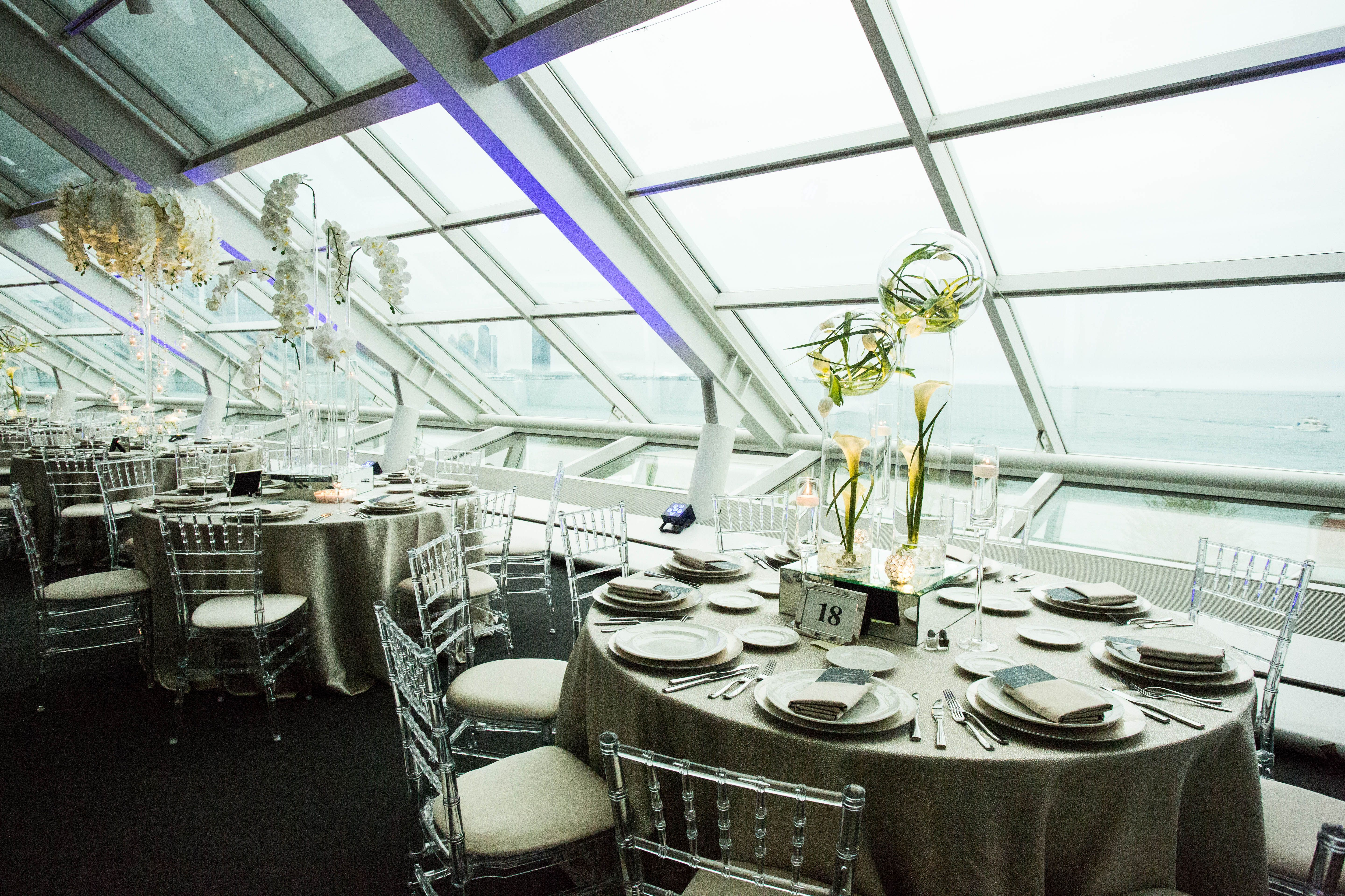 Wedding Decorations At The Chicago Adler Planetarium Event Lighting Wedding Decorations Design