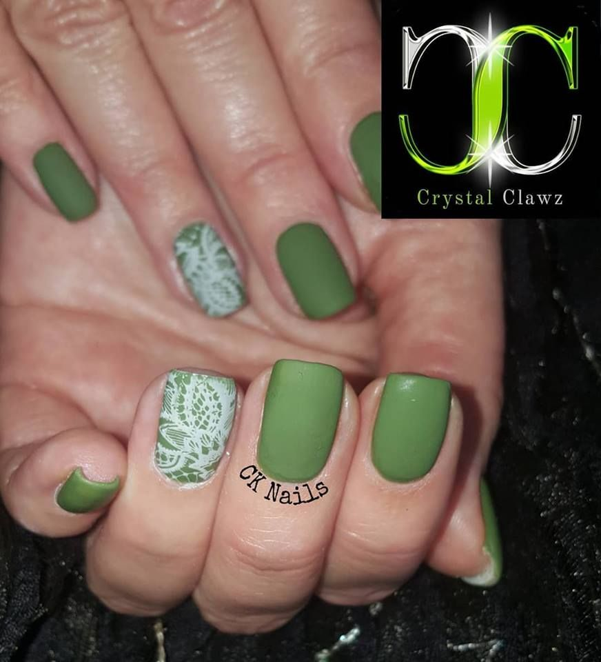 A Green For Every Occasion With A Little Stamping By Celeste Kotze Products Available From Crystal Clawz Crystalcla Gel Polish Brands Nail Polish Gel Polish