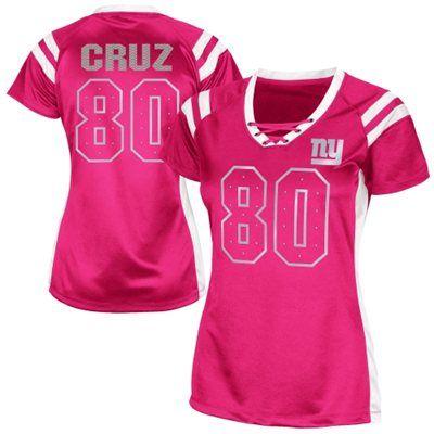 new product 0e7db 456a9 Victor Cruz New York Giants Womens Draft Him Shimmer V-Neck ...