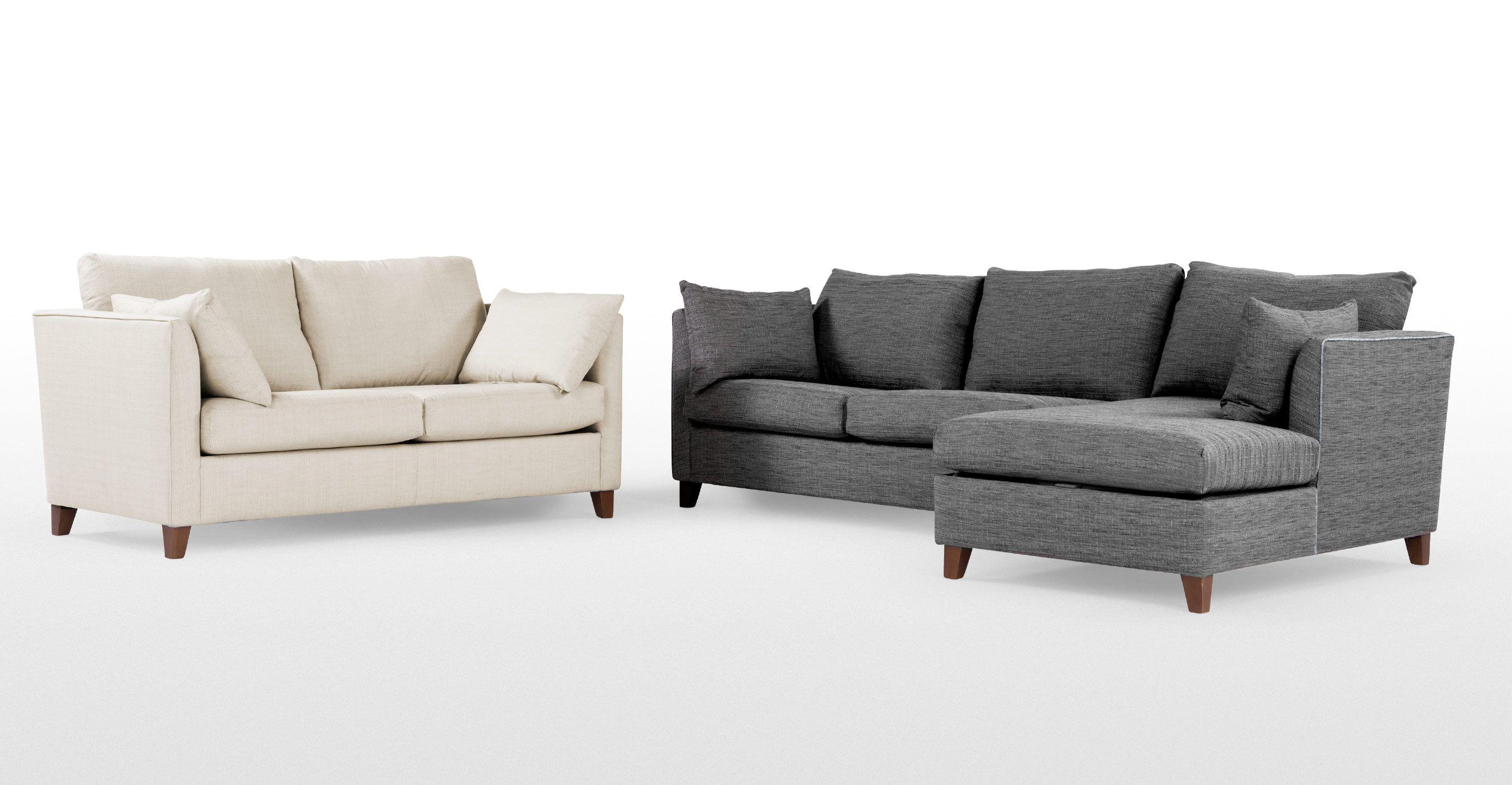 Bari Corner Storage Sofabed, Right Hand Facing, Malva