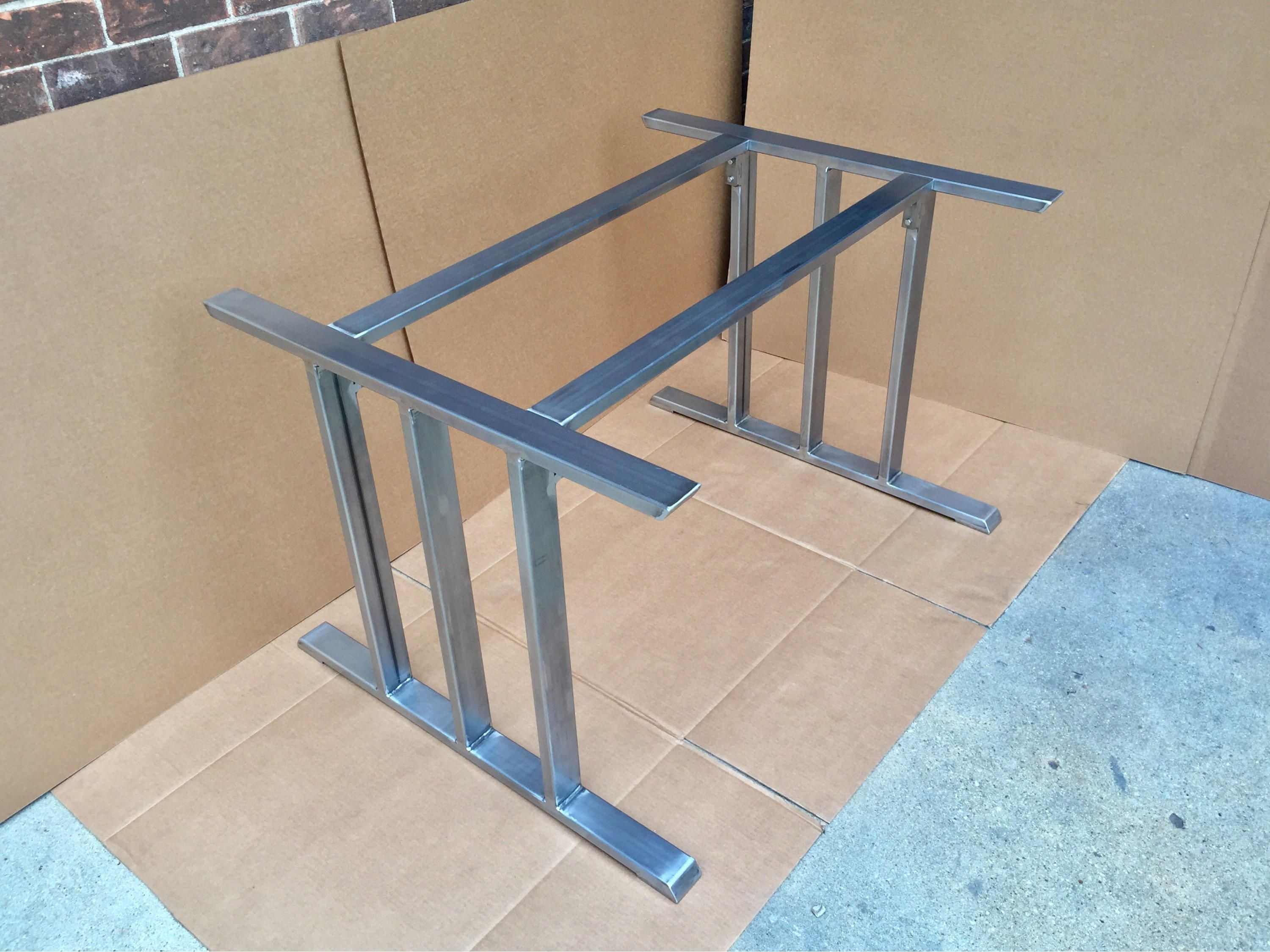 Glass Top Design Steel Dining Table Base For Glass Top Heavy