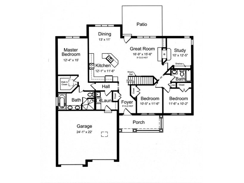 eplans craftsman house plan open floor plan with split bedrooms 1818 square feet and 3 bedrooms from eplans house plan code hwepl76095 - Split Plan House Plans