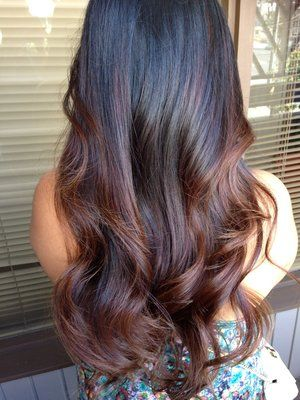 Subtle Black Ombre Beauty Goals Pinterest Balayage Hair And