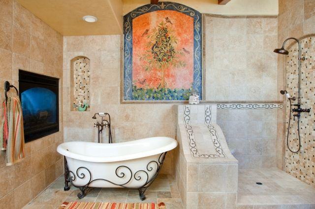 Freistehende Badewanne Sinnesvergnugen In Vollendung Badezimmer Design Toskanisches Badezimmer Freistehende Badewanne