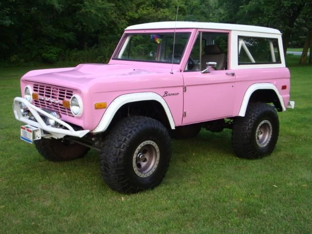 Early Bronco Pink Truck Ford Bronco Bronco