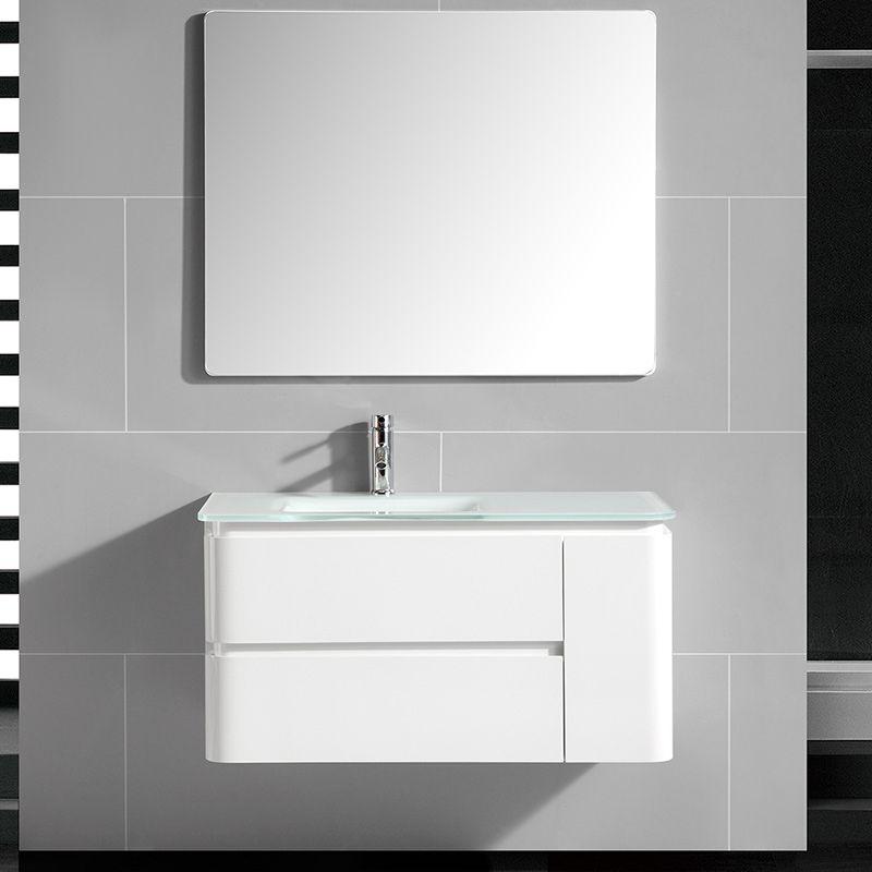 Meuble Vasque Avec Plan En Verre 100 Cm Qube Meuble Salledebain Bathroom Bathroomideas Bathroomdecor Bath Avec Images Meuble Vasque Vasque Meuble De Salle De Bain