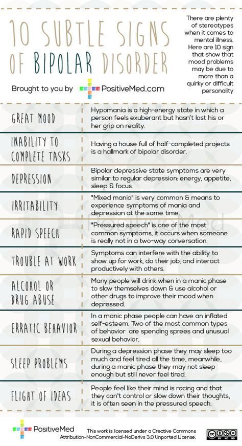 10 Subtle Signs of Bipolar Disorder Bipolar disorder