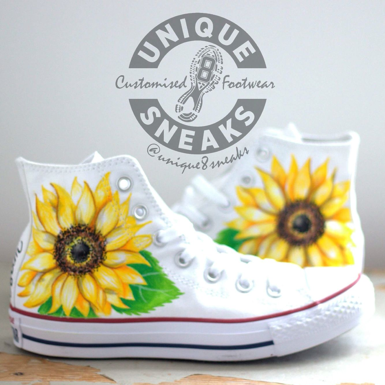 2d7787e3cbd9 Sunflower Custom Wedding Converse