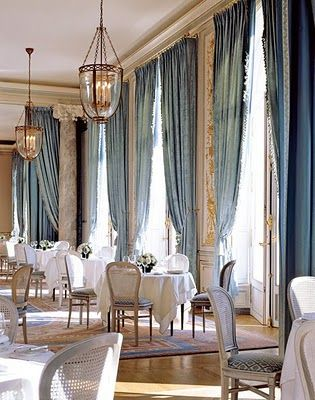 Doesn't This Look Like Some Fabulous Hotel Dining Room In Paris Brilliant Drapes For Dining Room Design Inspiration