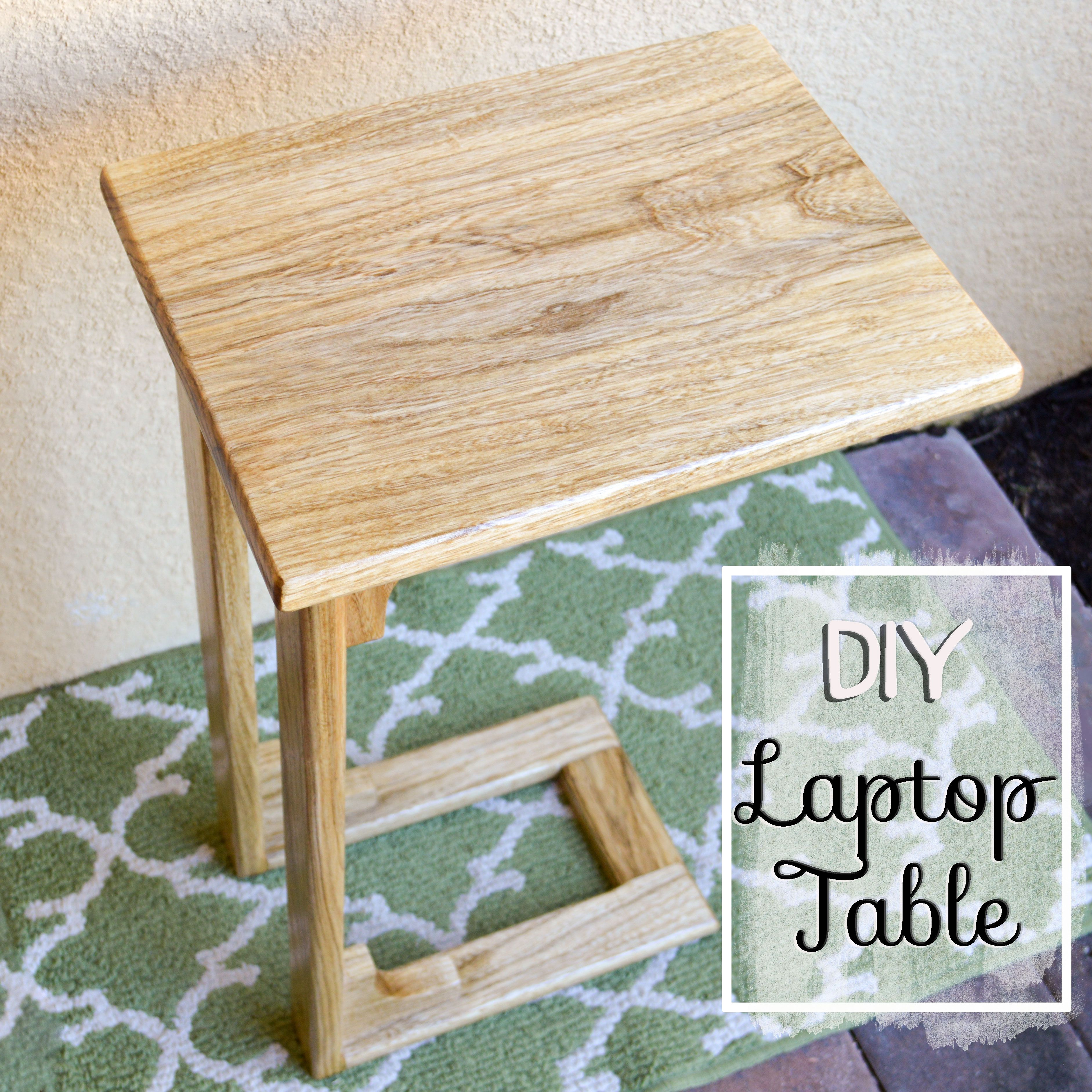 Table from a single 1 x 8 board see more diy twisty side table - Diy Laptop Table More