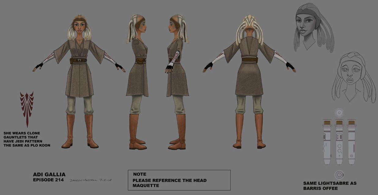 Adi Gallia : Star War the clone Wars Concept Art   Geek   Pinterest