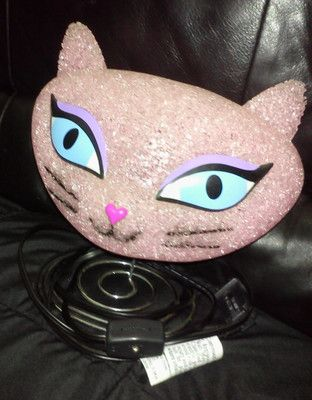 Cat Pink Kitty Face Bobble Head Night Light