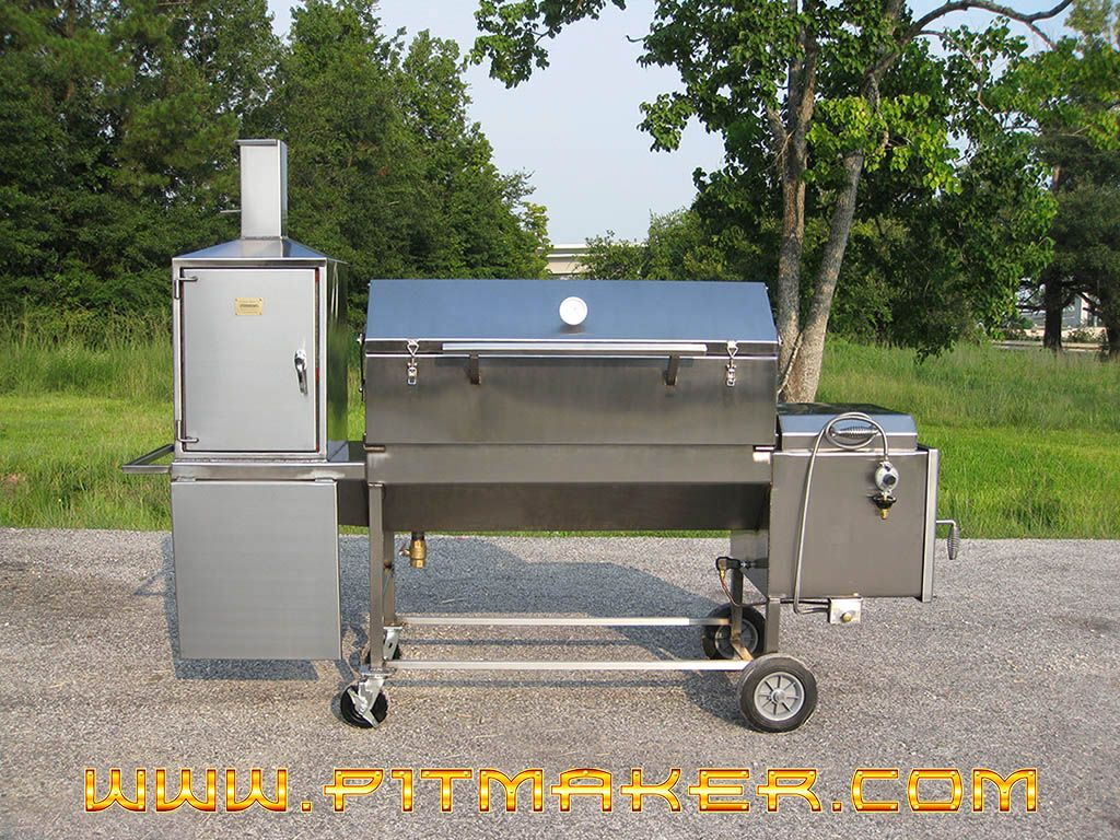 Lot Picture Of Stainless Steel Sniper Bbq Smoker