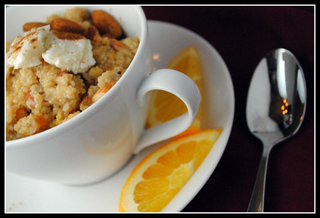 Sweet Breakfast Quinoa with Apricots and Almonds
