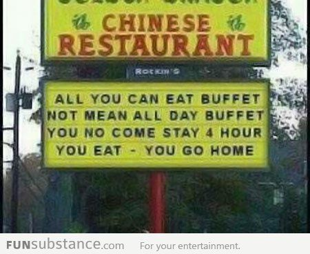 Chinese Buffet Funsubstance Com Funny Chinese Funny Signs Haha Funny