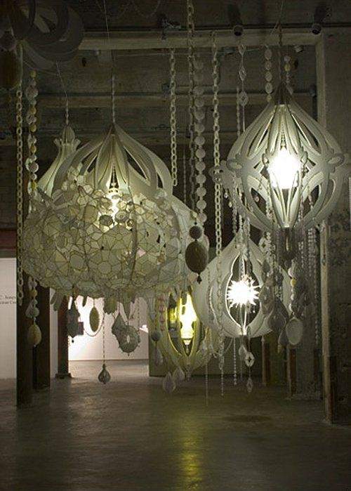 25 creative diy chandeliers made out of paper diy chandelier 25 creative diy chandeliers made out of paper aloadofball Images