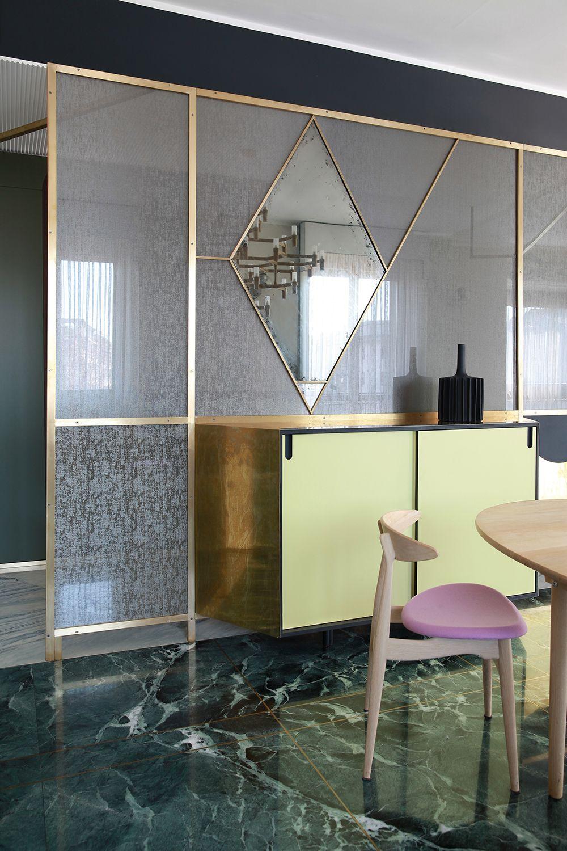 Teorema Milanese Marcante Testa Architetti In 2020 Marble Floor Modern Apartment Residential Interior