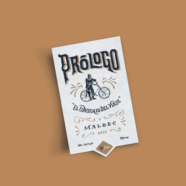 Prologo Wine Label By Gustavo Mancini Via Behance Graphisme Vintage Conception Graphique De Typographie